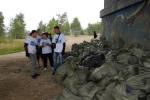 Акция по уборке стихийных свалок на берегу реки Китой от мусора.